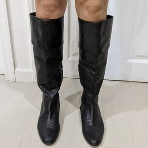 GREAT Black Leather Nine West Boots Size 8